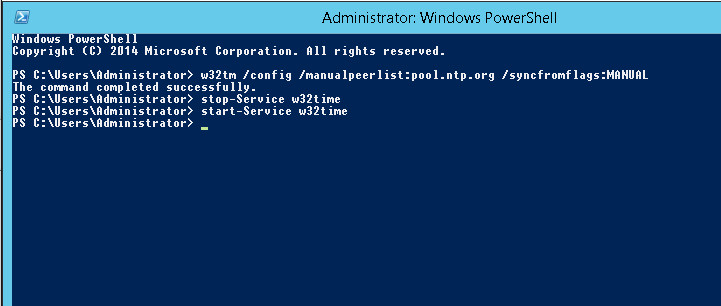 Windows server 2012 NTP server op domein controller activeren